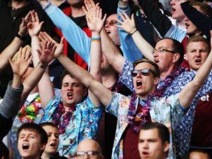 Yid Army: Fans cheer at a recent match between Tottenham Hotspurs and Aston Villa in England.