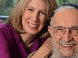 Reb's Voice Stilled: Rabbi Zalman Schachter-Shalomi poses with journalist Sara Davidson.