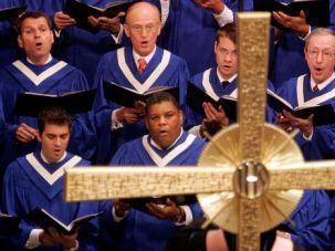 Raising Their Voices: Choir members at the Coral Ridge Presbyterian Church in Florida.