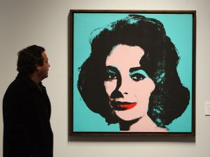 "Beauty in Chicago: Andy Warhol's ""Liz"" (1963) was part of Stefan Edlis' donation to the Art Institute of Chicago."