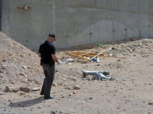 Rockets Strike: Israeli police investigate aftermath of rocket attack in resort town of Eilat.