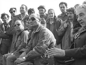 Wise Woman: Golda Meir meets with Moshe Dayan and Israeli troops on the Golan Heights during 1973 war.