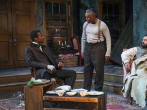 The Whips And Scorns Of Time: Judaism, slavery and exodus are hotly debated in Matthew Lopez?s play ?The Whipping Man,? seen here in a production at Northlight Theatre in Skokie, Ill.