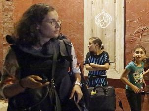 New Way To War : A foreign correspondent uses her phone after four Palestinian boys were killed by Israeli shelling in front of hotel where many reporters were staying.