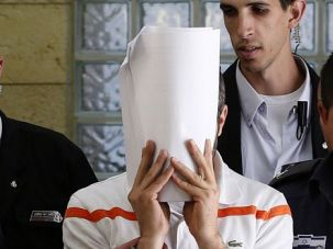 Image of Evil: The accused ringleader of a Jewish extremist group appeared in court on charges he killed a Palestinian teen at random to take revenge for the murders of three Israelis.