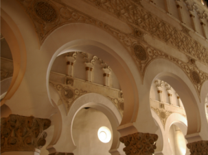 Ancient Sephardic Treasure: The former Grand Synagogue in Toledo, Spain, is now a musuem.