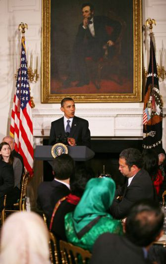 President Obama spoke in support of the mosque at an Iftar dinner held at the White House on August 13.