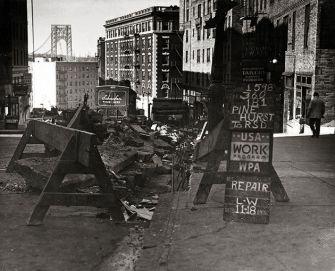 Refuge: This 1936 photo of New York?s 181st Street is featured in ?Places of Exile.?
