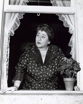Hello, Neighbor! Gertrude Berg in a still photo from her pioneering television show. Berg won the first best actress Emmy in 1950 for her starring role in ?The Goldbergs.?