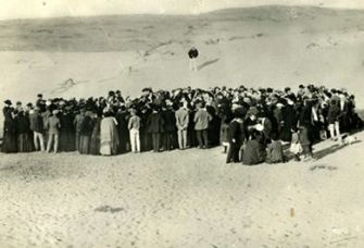 Then and Now: The city of Tel Aviv got its symbolic start on April 11, 1909, when a group of Jews gathered among the sand dunes north of Jaffa to draw lots for plots of land in what was planned to be a new Jewish neighborhood.