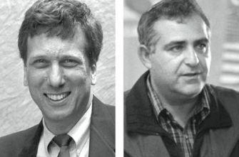 Leaders: JTS Chancellor Arnold Eisen, left, and Yeshiva University President Richard Joel.