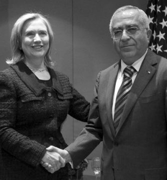 Next Step: Secretary of State Hillary Rodham Clinton meets in September with Palestinian Prime Minister Salam Fayyad in Jerusalem.