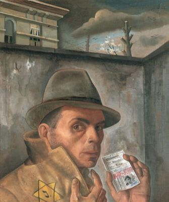 Complex Reflection: Nussbaum was in Brussels without a yellow star or a Jewish ID card when he formulated this claustrophobic self-portrait.
