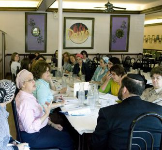 Class in Session: Orthodox women meet in a Brooklyn restaurant with a rabbinic coordinator to study the details of kashrut. ?This is a stepping stone,? one of the participants said.
