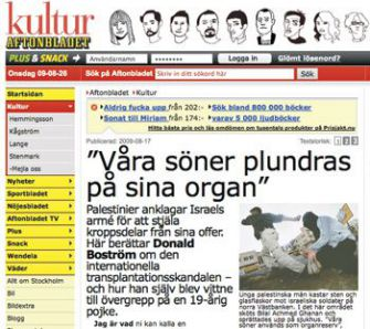Aftonbladet Links Online: Donald Boström?s largely insub-stantiated article remains on the newspaper?s Web site.