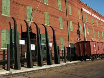 Tobacco Warehouse: The entrance to the Virginia Holocaust Museum.