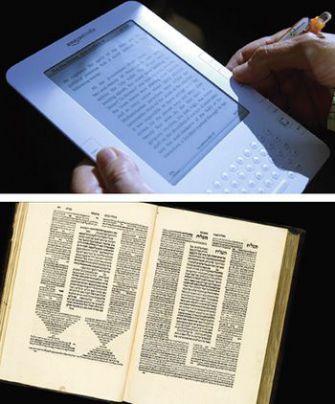 Book face: Kindle 2.0, Bomberg Talmud 1.0.