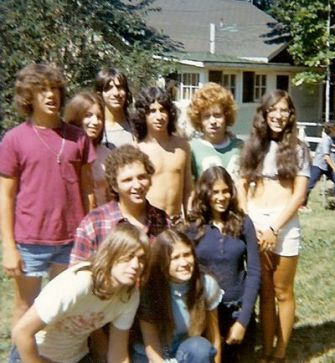 Reminiscing: Many of the teenagers pictured above who spent the summer of 1970 at the Rosmarins bungalow colony returned this year for a reunion.