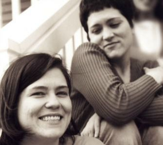 Susan Wolfe, right, and her sister, Sarah Wolfe.