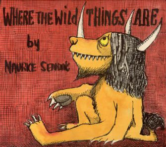 Making Mischief: The preliminary design of the dust jacket for ?Where the Wild Things Are? is part of a museum exhibition now in San Francisco. Click to view larger.