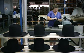 Hats: Hats for Orthodox Jews made in a factory Southern Spain.