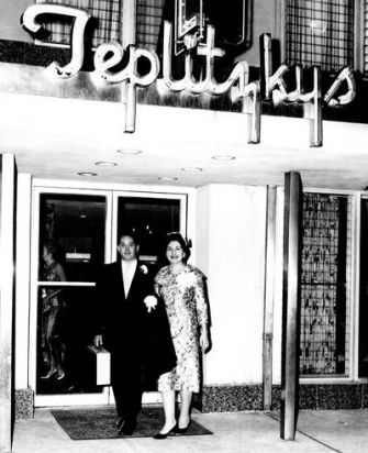 The Hot Spot: Hyman and Esther Teplitzky at the reopening of their hotel in Atlantic City, circa 1963.