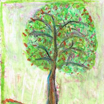 Tree of Life: Many of Irving Kamrat's paintings depict trees.