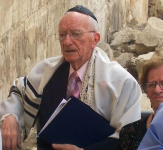 A Special Birthday: Seymour Tubin, a widower, turned 86 on the day of the ceremony at the Western Wall.