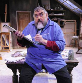 No Whitewash: Zero Mostel (Jim Brochu) paints his way through the tale of his life.