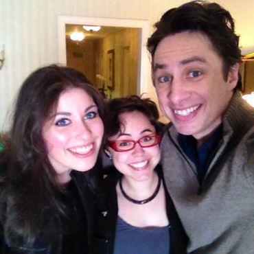 Anne Cohen and Anna Goldenberg with Zach Braff.