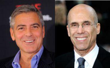 George Clooney (left) and Jeffrey Katzenberg