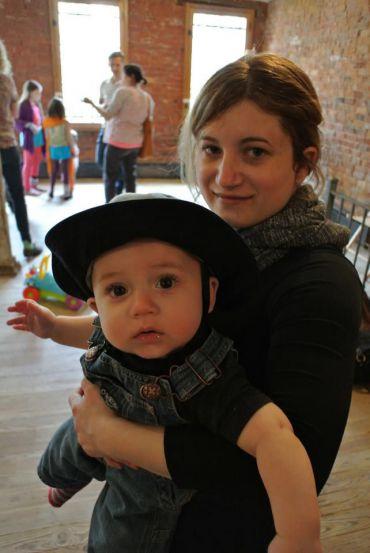 Gabi Birkner, with her son