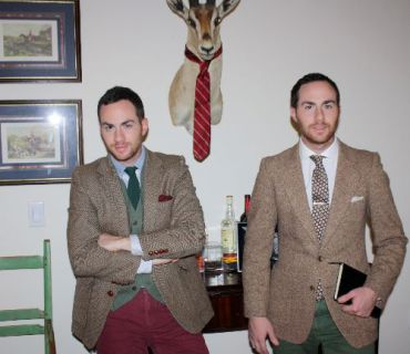Shimon (left) and Ariel Ovadia, the brains behind the high-end menswear label Ovadia & Sons.