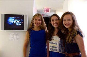 From left to right, Elena Tsemberis, Sammi Siegel and Emma Axelrod.