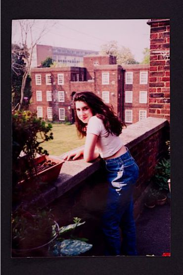 A young Amy outside her Nan?s flat in Southgate. Photographer unknown. Courtesy the Winehouse family.