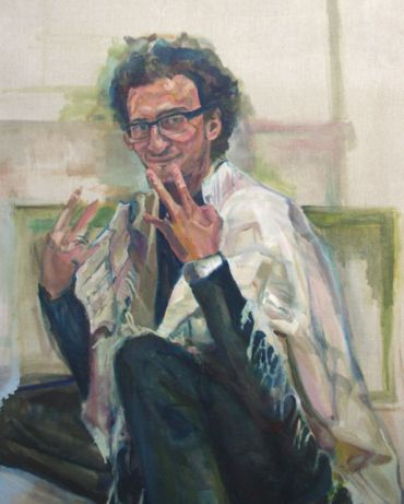 ?Eric Moed? by Ali Spechler, oil on canvas, 2010. Courtesy of Hadas Gallery.