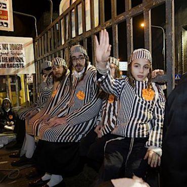 In Jerusalem last week, Haredi men and boys dressed in concentration camp garb.