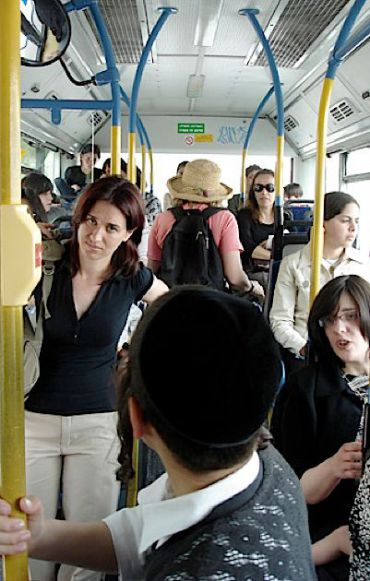 On Israel?s gender-segregated buses, women are relegated to the back.