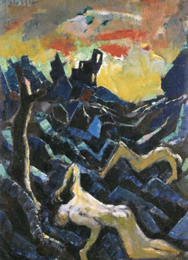 ?Apocalyptic Landscape,? 1912, by Jakob Steinhardt. Courtesy of the Israel Museum.