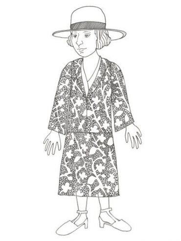 Alice B. Toklas, the paper doll.
