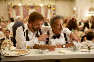 Paul Giamatti (left) plays Barney Panofsky, the foul mouthed son of Dustin Hoffman, in ?Barney?s Version.?