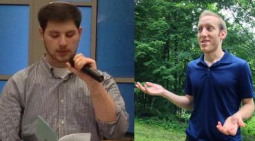 Aaron Berkowitz on left, Ariel Stein on right