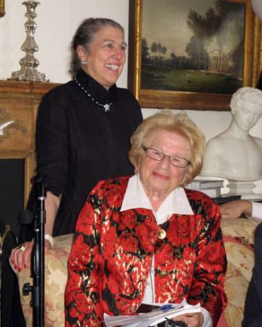 Patti Kenner and Dr. Ruth Westheimer