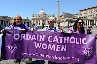 Advocates for women?s ordination in the Catholic Church, at the Vatican last month. (click to enlarge)