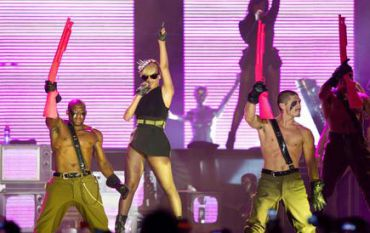 Rihanna performs in Tel Aviv on May 30. (click to enlarge)