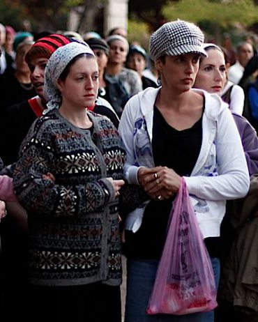 Women are segregated at growing number of Israeli funerals.