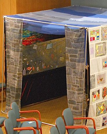 A sukkah crafted from the stories of the homeless.