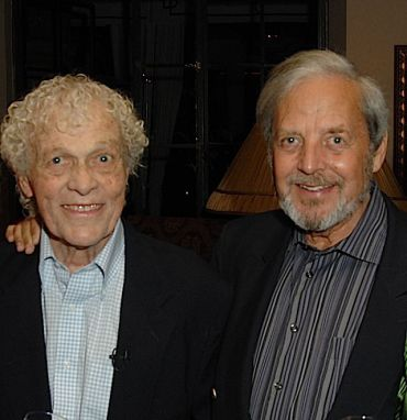 Co-authors Scotty Bowers (left) with Lionel Friedberg.