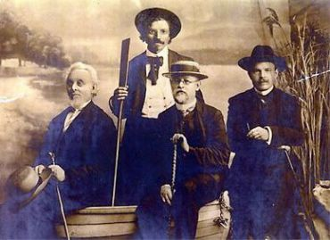 Jewish Writers, Odessa 1910. L-R: Mendele Mocher Sefarim, Sholom Aleichem, Ben-Ami, H.N. Bialik