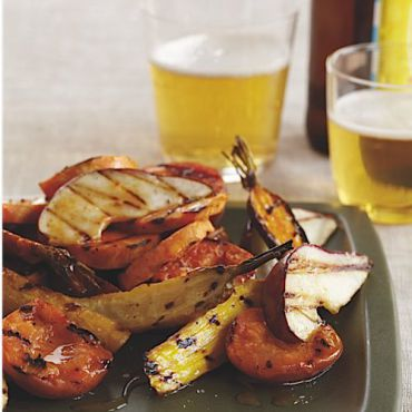 Grilled tzimmes pairs well with a cold beer.